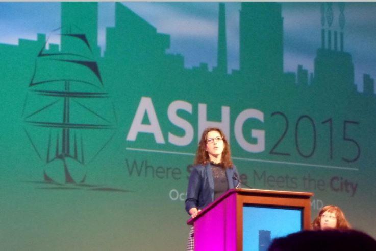 Claire Redin at ASHG 2015
